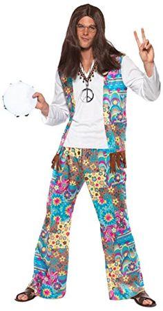 *werbung | Hippie Kostüm für Herren, Inklusive: Oberteil mit angesetzter Weste, Hose und Haarband, Ideal für Innen- und Außenveranstaltungen, Perfekt für Karneval, Halloween oder Themenpartys | #70er #hippie #kostüm #herrenkostüm #hippiekostüm #karneval