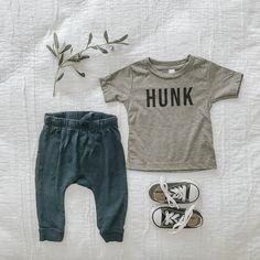 beeandbirdie on Etsy - HUNK toddler tshirt, baby tshirt, boy tshirt Cute Baby Boy Outfits, Baby Girl Shirts, Cute Baby Clothes, Boys T Shirts, Toddler Boy Fashion, Kids Fashion, Baby Park, Baby Fever, Cute Babies