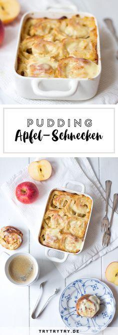 Apfel-Pudding-Schnecken mit Frosting