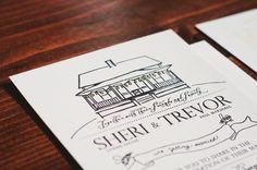 Letterpress Wedding Invitation. Personalized Letterpress from Letterpress studio, Tallahassee, FL. http://aliciaosborne.wordpress.com/2013/04/07/sheri-3-trevor-from-the-letterpress/
