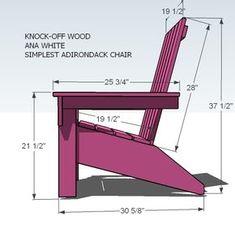 Ana Blanco | Construir una silla de Adirondack de Ana | Proyecto de bricolaje libre y fácil y Planes de muebles