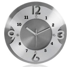 Round Hollowed-Out Stainless Steel Big Wall Clock