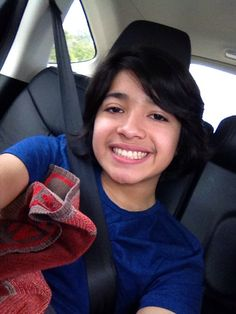 In the car on my way to six flags