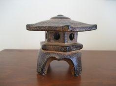 small Japanese pagoda lantern by overlook on Etsy Japanese Pagoda, Stone Lantern, Vintage Pottery, Makers Mark, Lanterns, Miniatures, Yard, Outdoor Decor, Etsy