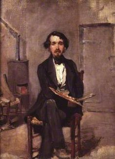 An Artist in his Studio - Alfred George Stevens - (British: 1817-1875)