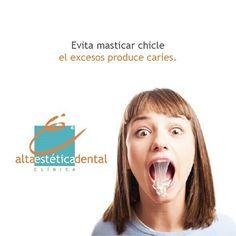 El consumo excesivo de chicle, puede ocasionar graves problemas en los dientes, como lo son: -Trastorno de la Articulación Temporomandibular en la Mandíbula -Caries dentales -Dolor de cabeza