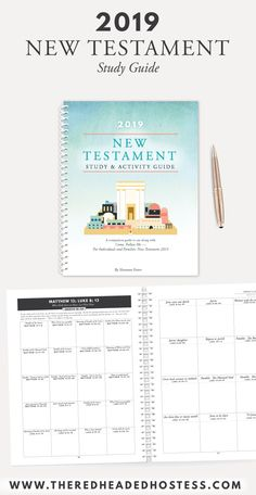 2019 New Testament Study & Activity Guide (Spiral Bound Book) - The Red Headed Hostess Latter Days, Latter Day Saints, Red Headed Hostess, Luke 8, Bible Study Plans, Family Home Evening, Bound Book, Church Ideas, New Testament