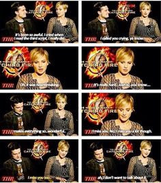 Josh Hutcherson and Jennifer Lawrence are like the cutest and funniest celebrities.