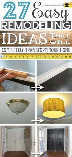 A list of some of the best home remodeling ideas if you're on a budget, and want easy and quick updates that really pay off. Lots of before and after photos to get you inspired! save money at home, budget home decor #decor #budget