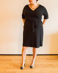 Is there anything better than a little black wrap dress? Check out Lorene's fab little number: