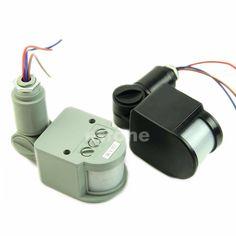 12M Security PIR Infrared Motion Sensor Detector Wall LED Light Outdoor RF 140 degree  Black/Gray AC85V~265V #Affiliate
