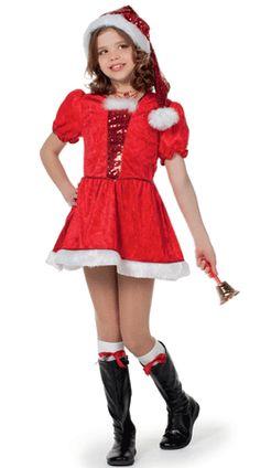 Luxe kerstjurkje voor meisjes. Leuk kerst kostuum van een goede kwaliteit. Het kostuum bestaat uit het kerst jurkje en de kerstmuts. In verschillende maten verkrijgbaar. Kerst kostuums bij Fun en Feest #kerstjurkjes