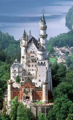 Neuschwanstein in Upper Bavaria, Germany.