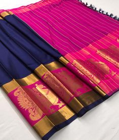 Fabric : Cotton Silk Color : Blue, Pink Length – 5.50 Meter & 0.8 Meter Blouse Package Content : 1 Saree With 1 Blouse Piece Work : Weaving Product color may slightly vary due to photographic lighting sources or your monitor settings. Wash Care : DRY CLEAN ONLY International shipping is available Contact us / whats app us : +91 9725728989