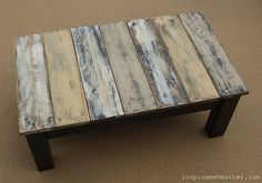 coffee table out of pallet wood