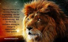 lion,change quote
