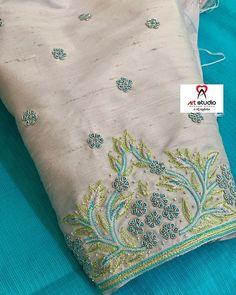 Cutwork Blouse Designs, Simple Blouse Designs, Stylish Blouse Design, Bridal Blouse Designs, Blouse Neck Designs, Simple Embroidery Designs, Embroidery Suits Design, Hand Work Embroidery, Hand Work Blouse Design