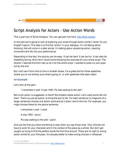 Script Analysis for Actors - Five Steps to Building Your ...