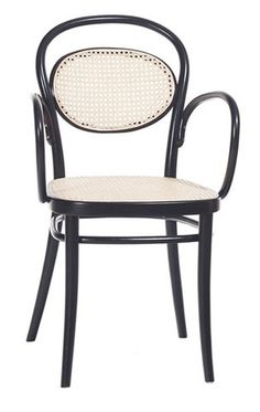 Another fine char, in cane or upholstery or both: the Michael Thonet No 20 Bentwood Armchair.
