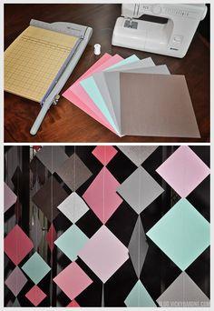 DIY Diamond Paper Garland