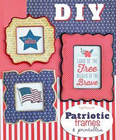 DIY Patriotic Frames