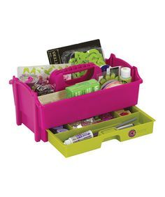 Magenta & Green Crafter's Caddy by Creative Options on #zulily