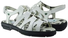 Stylish and comfortable, ladies golf sandals offer relief from leather golf shoes during the warmer months. Shop our large selection at Lori's Golf Shoppe! Check this out --> White Lizard Greenleaf Sport Ladies Strappy Spikeless Golf Sandals