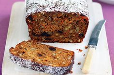 Date & carrot loaf - this is so easy to make. It was moist and very delicious! I made a few changes - I doubled the quantity of dates and carrot, and used chopped pecans insteady of the Lucky nut mix. Loaf Recipes, Baking Recipes, Real Food Recipes, Cake Recipes, Snack Recipes, Yummy Food, Snacks, Carrot Loaf, Cooking Competition