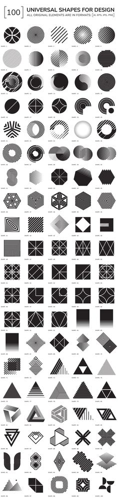 100 geometric shapes - Objects