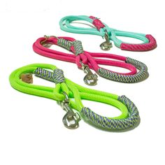 Handmade Rope dog leash - Fresh Colorful Neon climbing rope combinations - Sporty Leashes for Stylish Athletic Canines! by TopologyHandmade on Etsy https://www.etsy.com/listing/238614968/handmade-rope-dog-leash-fresh-colorful