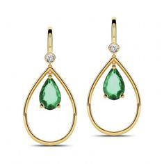 Gleaming Emerald Earrings