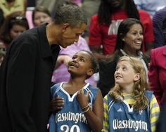 The Political Girl: President Obama's daughters enjoy basketball with Mystics…
