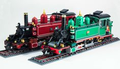 Puffing Billy 6A Lego in two-tone green | Flickr - Photo Sharing!