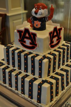 Auburn Football Cake | Tailgate Treats at Olexas Cafe--Free offer!
