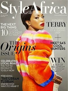 Love the way Asanda Sizani styled Terry Pheto in Style Africa's Winter 2014 issue.