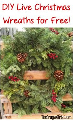 Tip to make FREE DIY Fresh Christmas Wreaths and Garlands! via ...