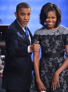 Michelle Obama Debate Dress: The First Lady Repeats A Recent Thom Browne Look (PHOTOS) --- LOVE This Dress!!!!