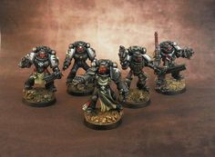 Black Templars. I love the model with the dual Power Fists.