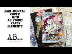 Junk journal cover with AB Studio paper elements by MakaArt