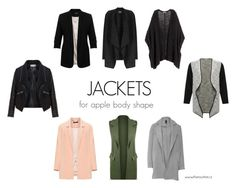 JACKETS FOR APPLE BODY SHAPE by kristina-mihalkova on Polyvore featuring Manon Baptiste, Zizzi, M&Co, Miss Selfridge, WearAll and Phase Eight
