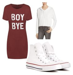 Casual T-shirt Dress by mdomo on Polyvore featuring polyvore moda style COMUNE Converse fashion clothing