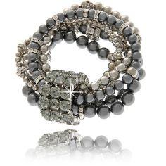 LK DESIGNS Diva Multi Pearl Bracelet, found on polyvore.com