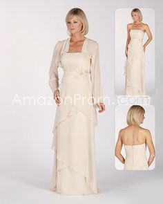 Fabulous Beading Tiered Pleats A-line Strapless Floor-length Mother of the Bride Dresses