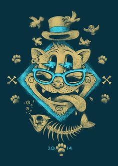 CAT | Illustration by Oleg Gert, via Behance