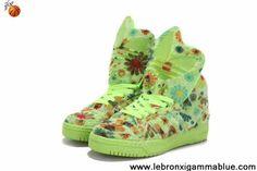 Buy Latest Listing Adidas X Jeremy Scott Winter Big Tongue Shoes Green