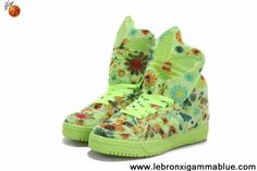 Buy Latest Listing Adidas X Jeremy Scott Winter Big Tongue Shoes Green