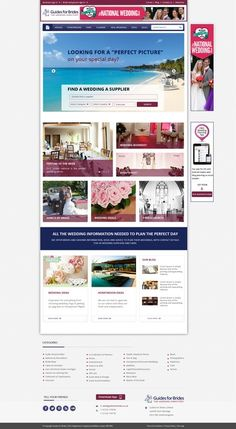 Redesign a popular home page and a client page on one of the UKs top wedding websites. by AxilSolutions
