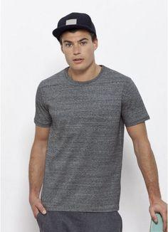 Kurtus - Slub Heather Steel Men's T-Shirt. This men's tee is #fairtrade, #organiccotton and a heavyweight and durable t-shirt at 200gsm. Made in Bangladesh.