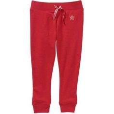365 Kids from Garanimals Girls' French Terry Jogger Pants, Girl's, Size: 6, Red