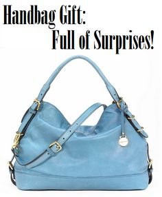 Handbag Gift Idea: Full of Surprises -why haven't I done this before? Great idea! #handbag #gift